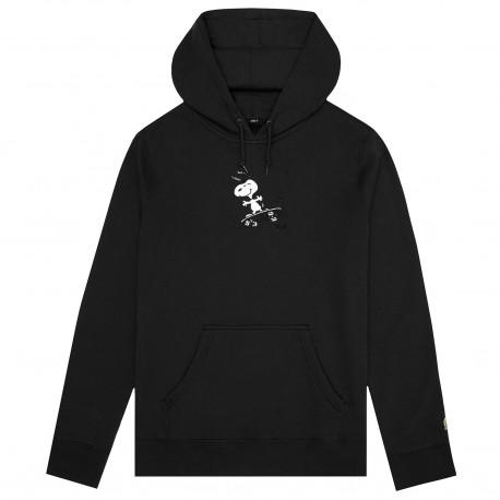 Huf x peanuts sweat snoopy skates hood - Black