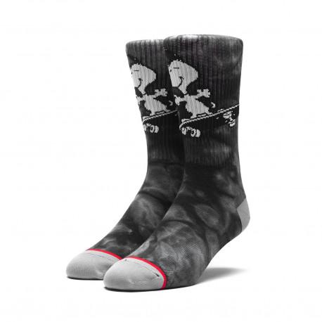 Huf x peanuts socks snoopy skate crew - Black