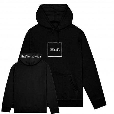 Sweat box logo hood - Black
