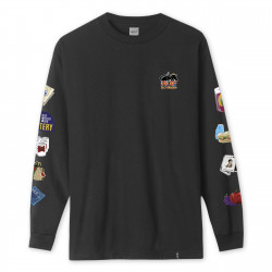 HUF, T-shirt bodega ls, Black