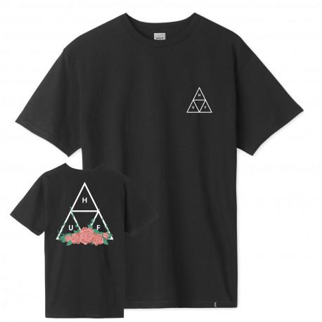 T-shirt city rose tt ss - Black