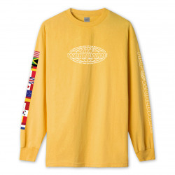 HUF, T-shirt world tour ls, Sauterne