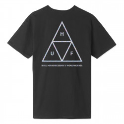 HUF, T-shirt hologram ss, Black