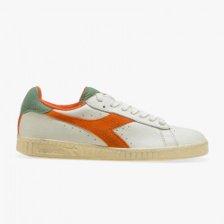 DIADORA, Game l low used, Bianco/arancio