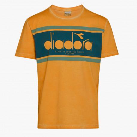 T-shirt ss spectra used - Orange mustard