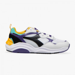 DIADORA, Whizz run, White/black/mulberry purple