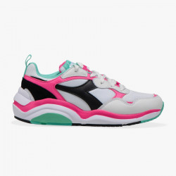DIADORA, Whizz run, White/fluo fuchsia/electric gr