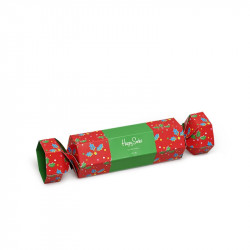 HAPPY SOCKS, Christmas cracker holly gift box, 4300