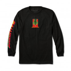 PRIMITIVE, T-shirt shenron wish ls, Black