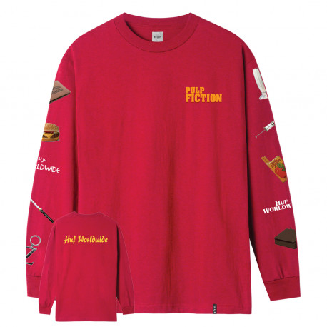 T-shirt pulp props ls - Red