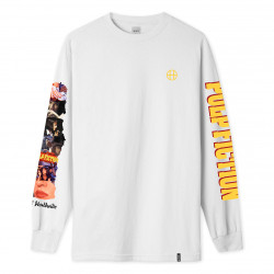 HUF, T-shirt collage ls, White