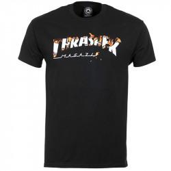THRASHER, T-shirt intro burner ss, Black
