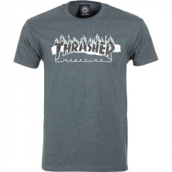 THRASHER, T-shirt ripped ss, Dark heather