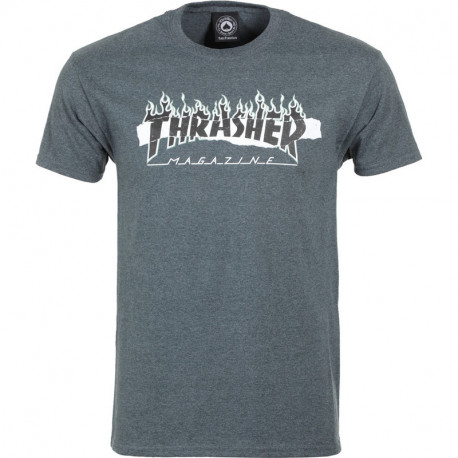 T-shirt ripped ss - Dark heather