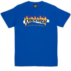 THRASHER, T-shirt ripped ss, Royal blue