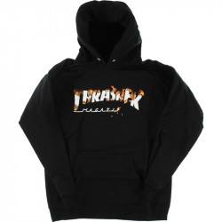 THRASHER, Sweat intro burner hood, Black