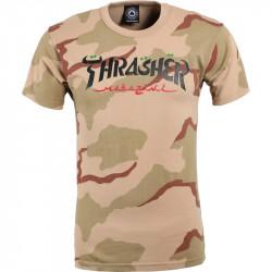 THRASHER, T-shirt calligraphy ss, Desert camo
