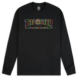 THRASHER, T-shirt cable car ls, Black