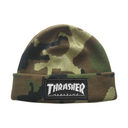 THRASHER, Beanie logo patch, Camo