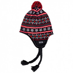 THRASHER, Beanie magazine logo sherpa, Black red