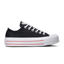 CONVERSE, Chuck taylor all star lift ox, Black/university red/white
