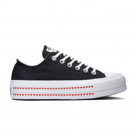 Chuck taylor all star lift ox - Black/university red/white
