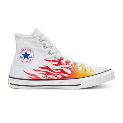 CONVERSE, Chuck taylor all star hi, White/enamel red/fresh yellow