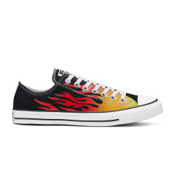 CONVERSE, Chuck taylor all star ox, Black/enamel red/fresh yellow