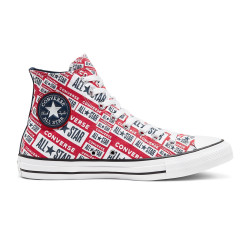 CONVERSE, Chuck taylor all star hi, White/multi/black