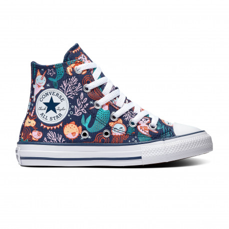 Chuck taylor all star hi - Navy/rapid teal/white