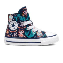 CONVERSE, Chuck taylor all star 1v hi, Navy/rapid teal/white