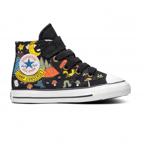 Chuck taylor all star 1v hi - Black/bold mandarin/amarillo