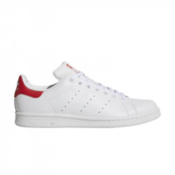 ADIDAS, Stan smith, Blanc/blanc/rougco