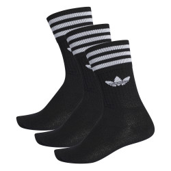 ADIDAS, Solid crew sock 3 pack, Black/white