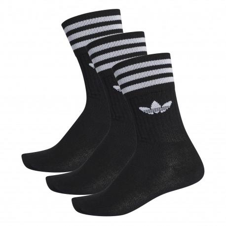 Solid crew sock 3 pack - Black/white
