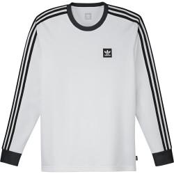 ADIDAS, Ls club jersey, Blanc/noir