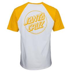 SANTA CRUZ, Opus dot t-shirt, Mustard/white