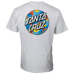 SANTA CRUZ, Primary dot t-shirt, Athletic heather