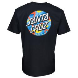 SANTA CRUZ, Primary dot t-shirt, Black