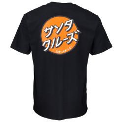 SANTA CRUZ, Other japanese dot t-shirt, Black
