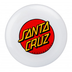 SANTA CRUZ, Dot flying disk, White