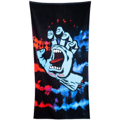 SANTA CRUZ, Screaming hand tie dye towel, Red/blue
