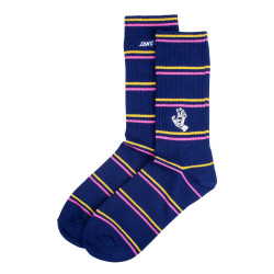 SANTA CRUZ, Mini outline hand sock, Dark navy