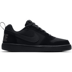 NIKE, Boys' nike court borough low (gs) shoe, Black/black-black