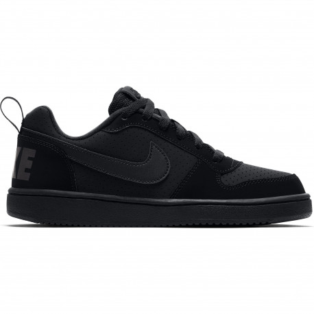 Boys' nike court borough low (gs) shoe - Black/black-black