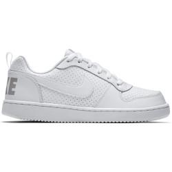 NIKE, Boys' nike court borough low (gs) shoe, White/white-white