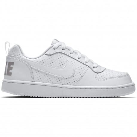 Boys' nike court borough low (gs) shoe - White/white-white