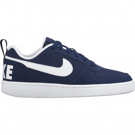Boys' nike court borough low (gs) shoe - Midnight navy/white
