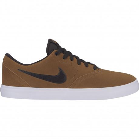 Nike sb check solar - Golden beige/velvet brown-white