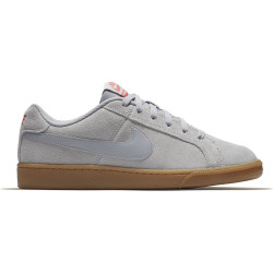 NIKE, Men's nike court royale suede shoe, Wolf grey/wolf grey-solar red